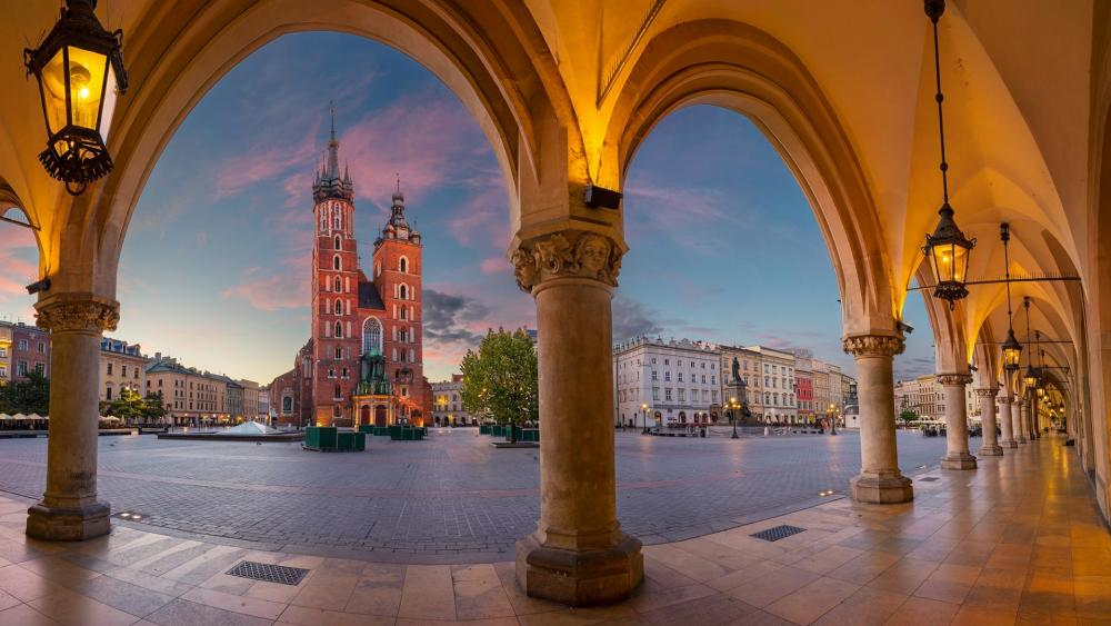 Main Square in Krakow wallpaper