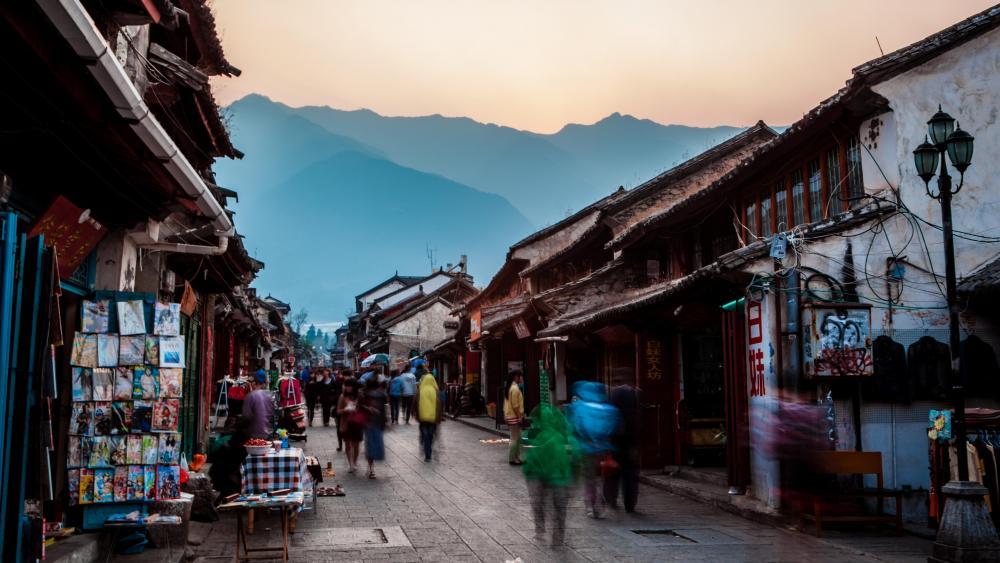Dali ancient town (Yunnan, China) wallpaper