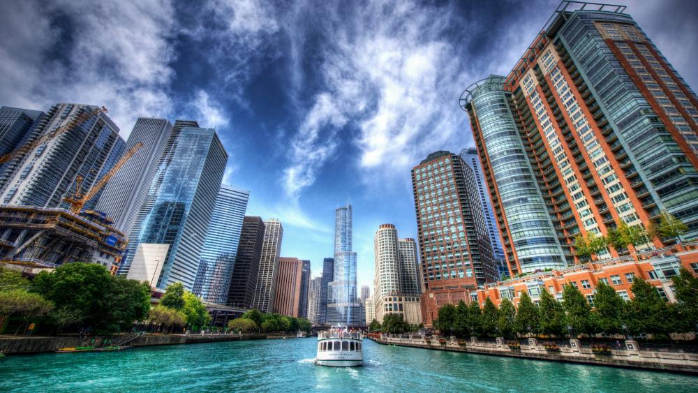 Chicago River wallpaper