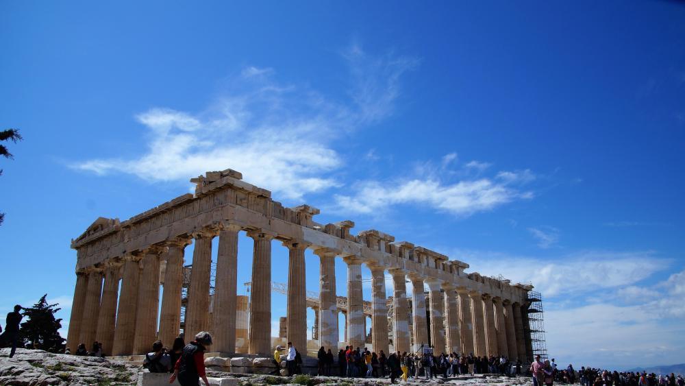 Parthenon on the Acropolis wallpaper