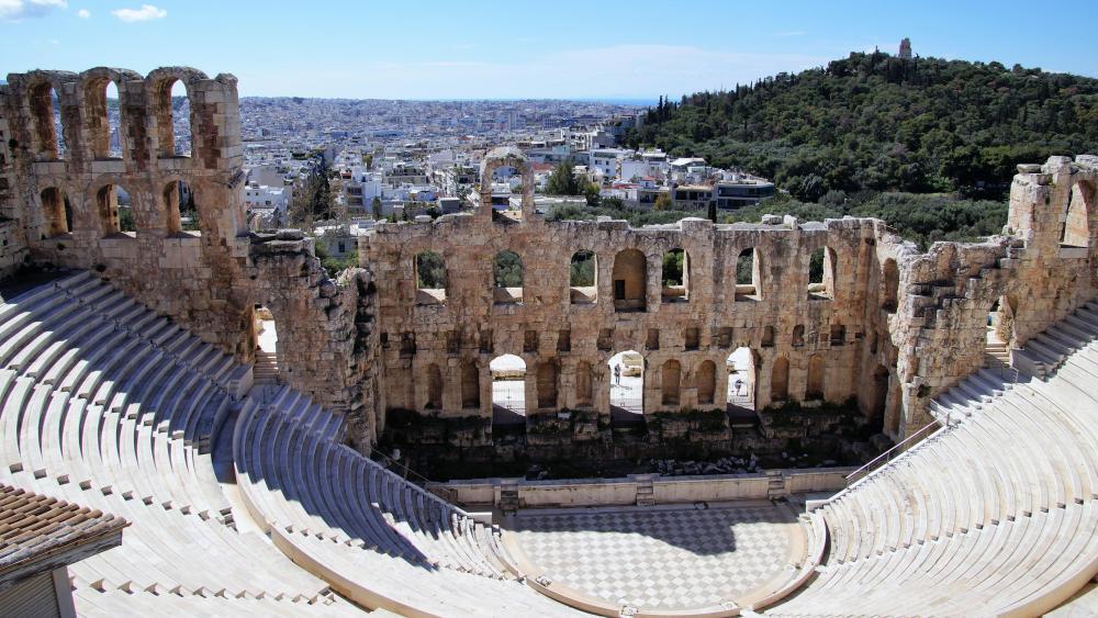 Odeon of Herodes Atticus (Acropolis, Athen) wallpaper