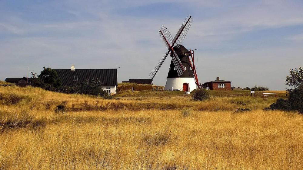 Dutch Windmill wallpaper