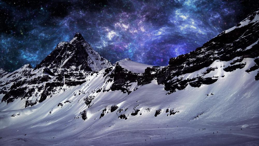 Klein Matterhorn wallpaper