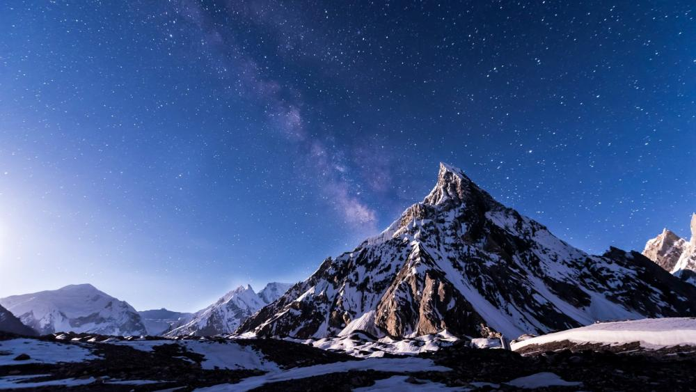 Mitre peak in Karakorum Mountains wallpaper