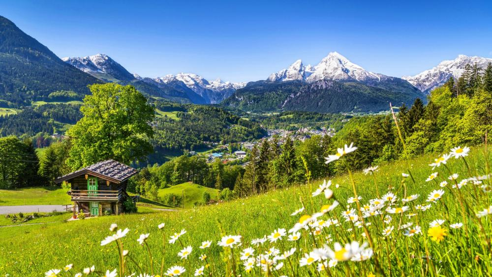 Berchtesgaden at spring (Bavaria, Germany) wallpaper