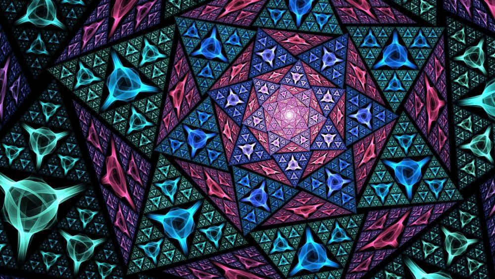 Mosaic abstract art wallpaper