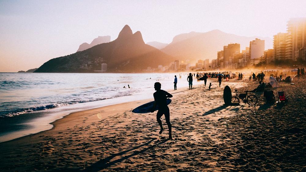 Ipanema beach (Rio de Janeiro) wallpaper