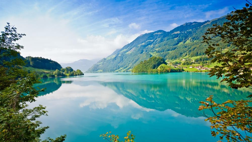Lake Lungern (Switzerland) wallpaper