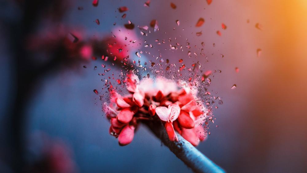 Broken flower wallpaper