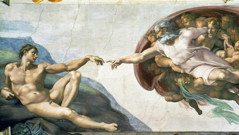 Michelangelo's Sistine Chapel wallpaper