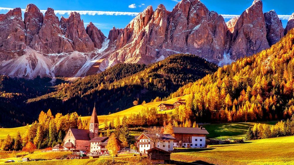 Villnoss South Tyrol wallpaper