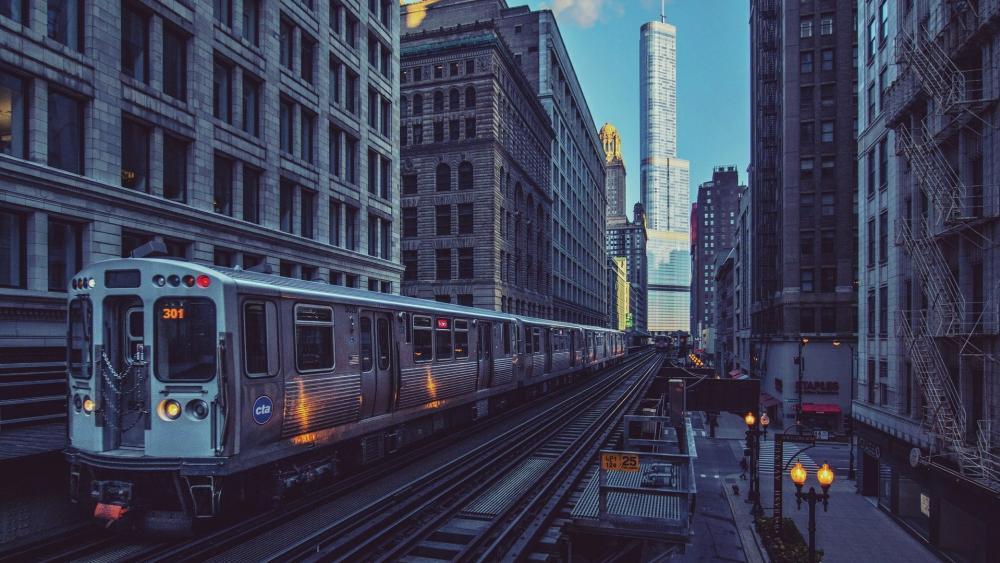 Chicago railway wallpaper