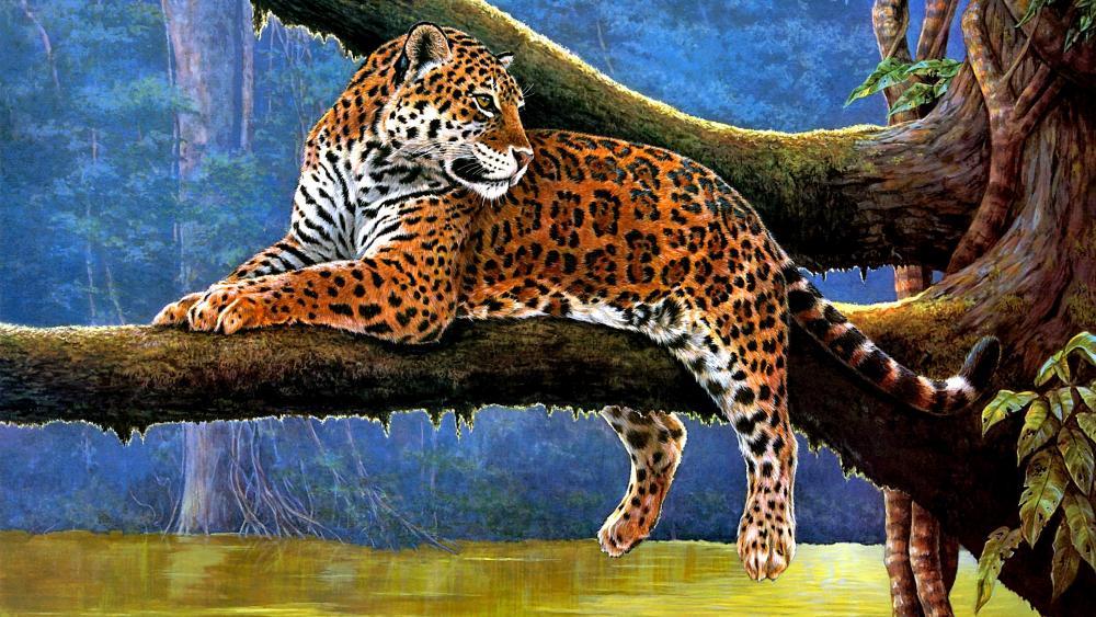 Jaguar Painting wallpaper
