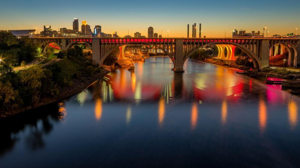 Minneapolis at dawn wallpaper