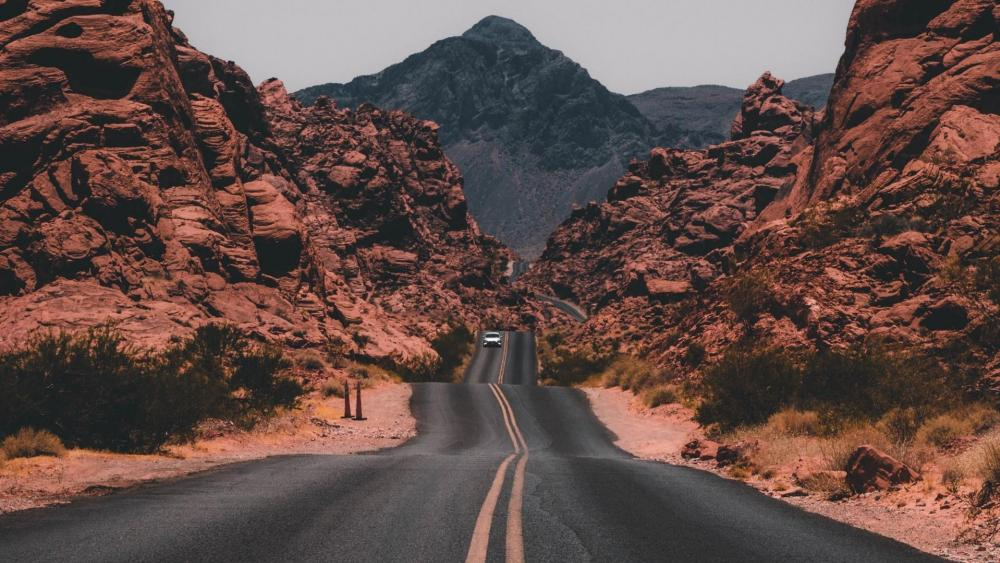 Road in the Valley of Fire State Park (Nevada) wallpaper