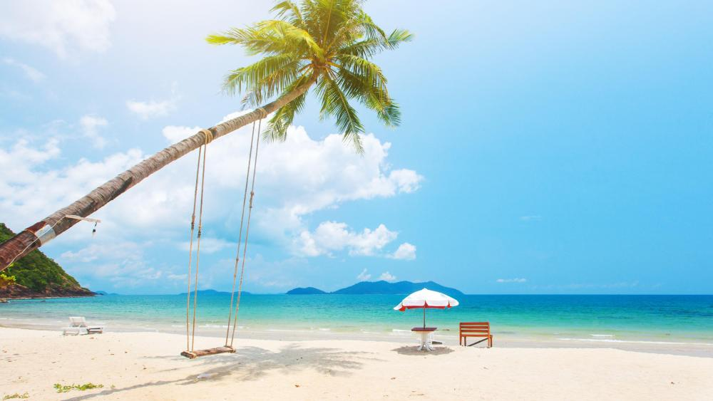 Tropical vacation wallpaper