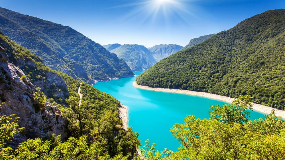 Piva Lake (Montenegro) wallpaper