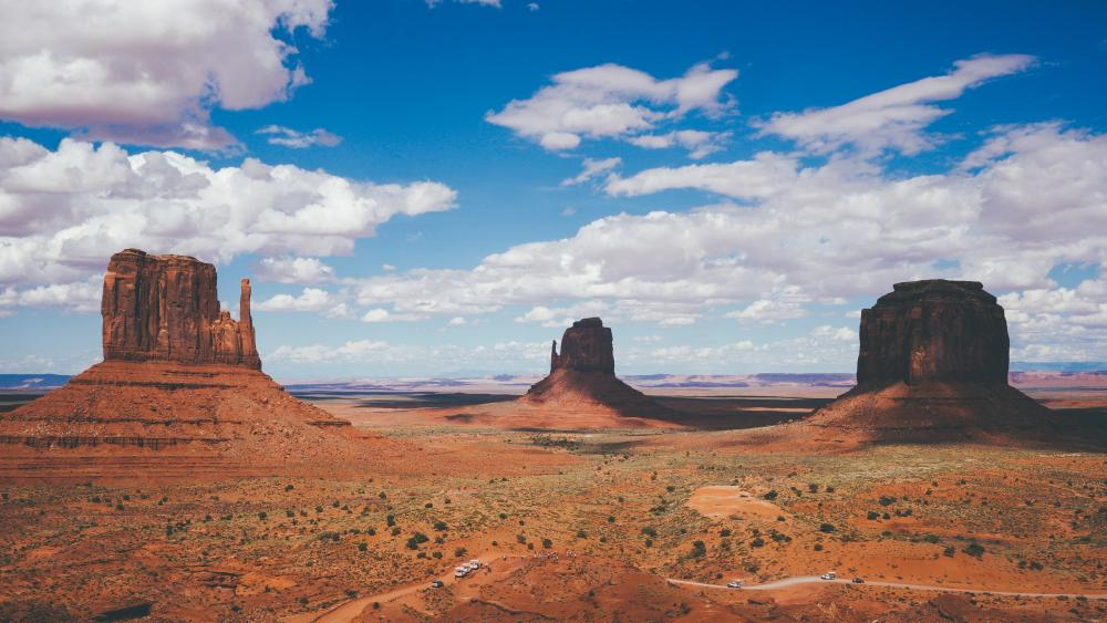 West and East Mitten Buttes, Monument Valley wallpaper
