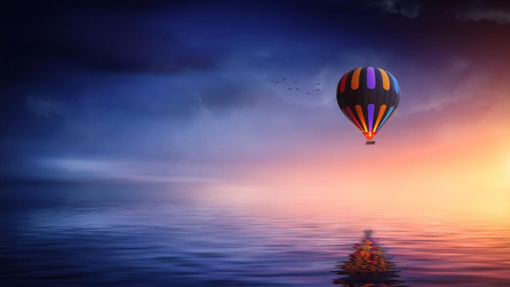 Hot Air Balloon ride wallpaper