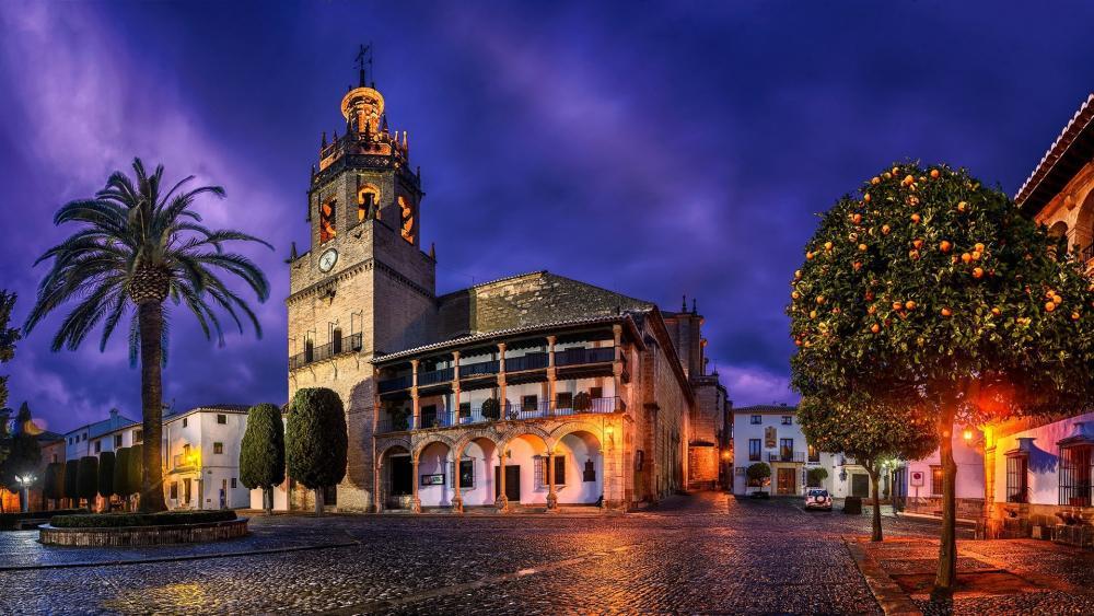 Church of Santa Maria la Mayor (Spain) wallpaper