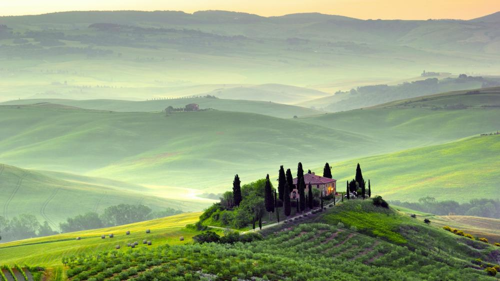 Tuscany Villa Podere Belvedere (Italy) wallpaper