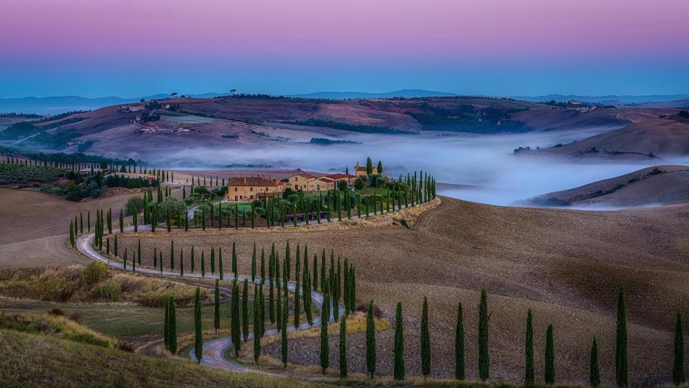 Tuscan autumn wallpaper