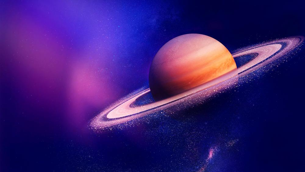 Saturn  - Space art wallpaper