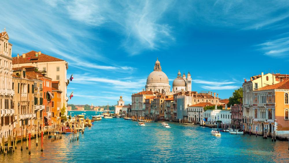 Venice from the Grand Canal (Italy) wallpaper
