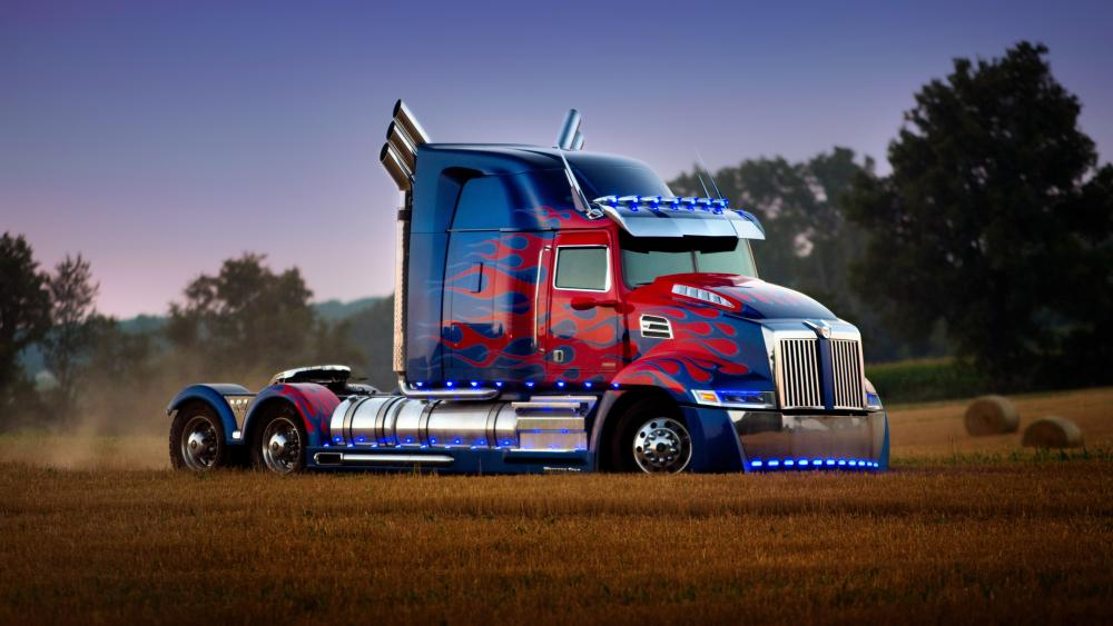 Optimus Prime truck wallpaper
