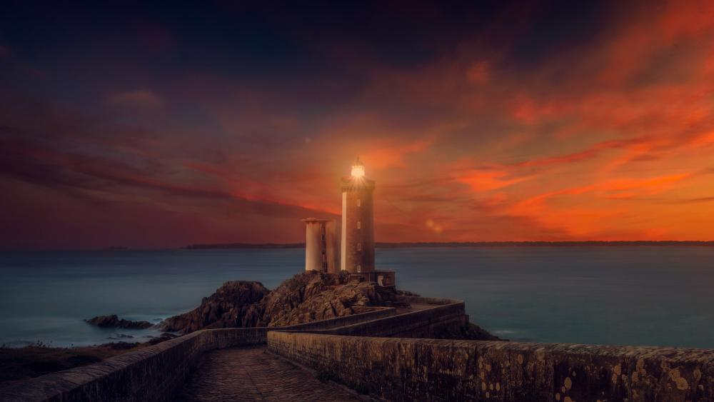 The Lighthouse Petit Minou, France wallpaper
