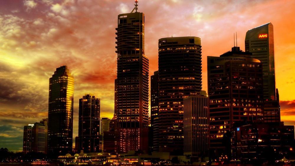 Brisbane sunset wallpaper