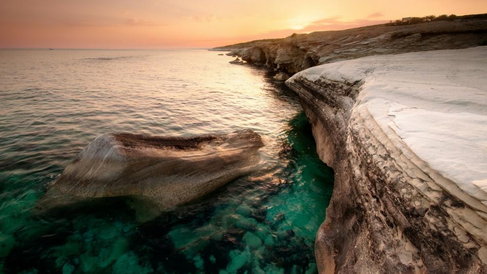 Cyprus seashore wallpaper