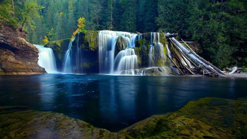 Lower Lewis River Falls (Washington) wallpaper