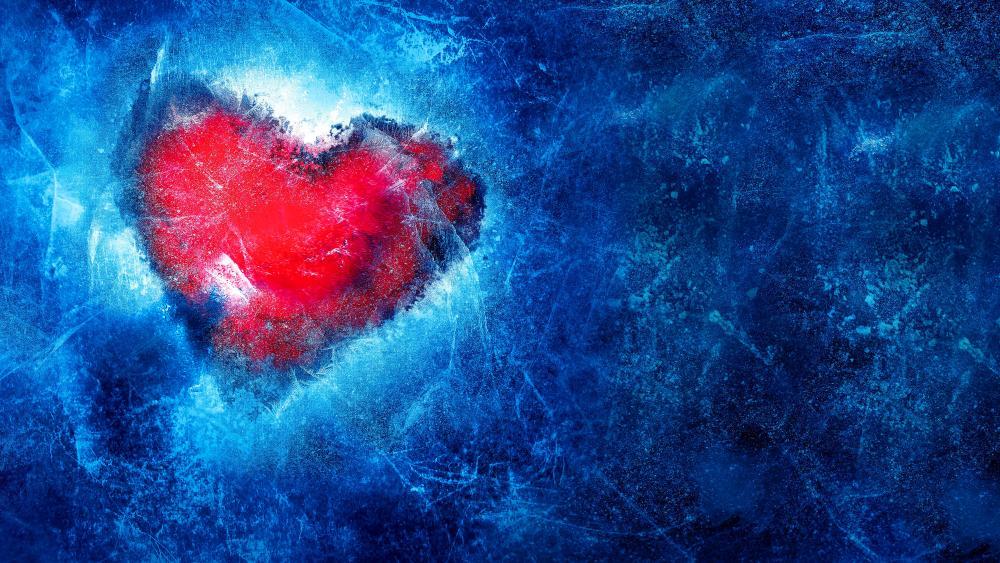 Frozen Love Heart wallpaper