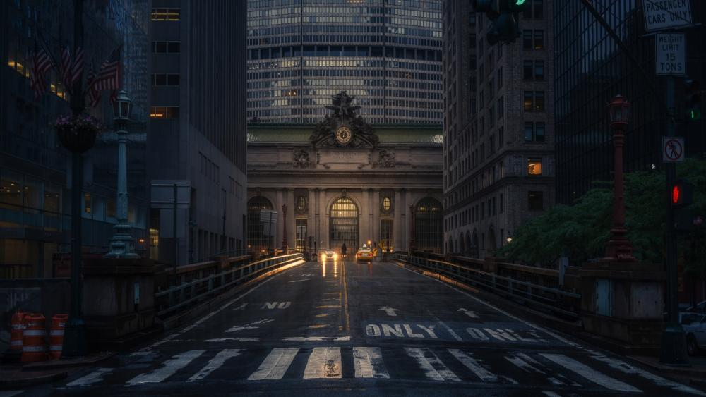 Grand Central Terminal at dusk wallpaper