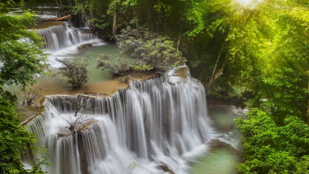 Erawan Waterfall wallpaper