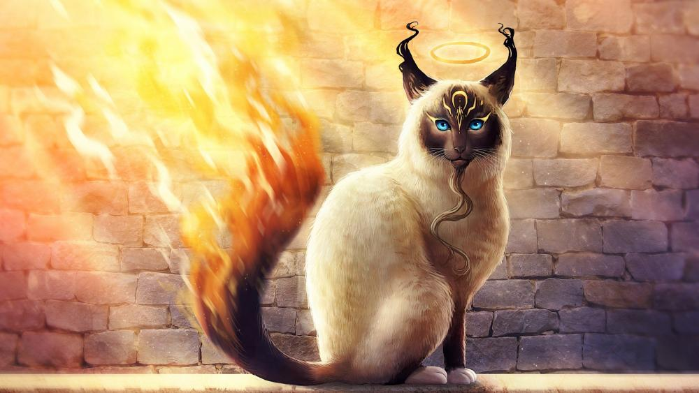 Glory cat wallpaper