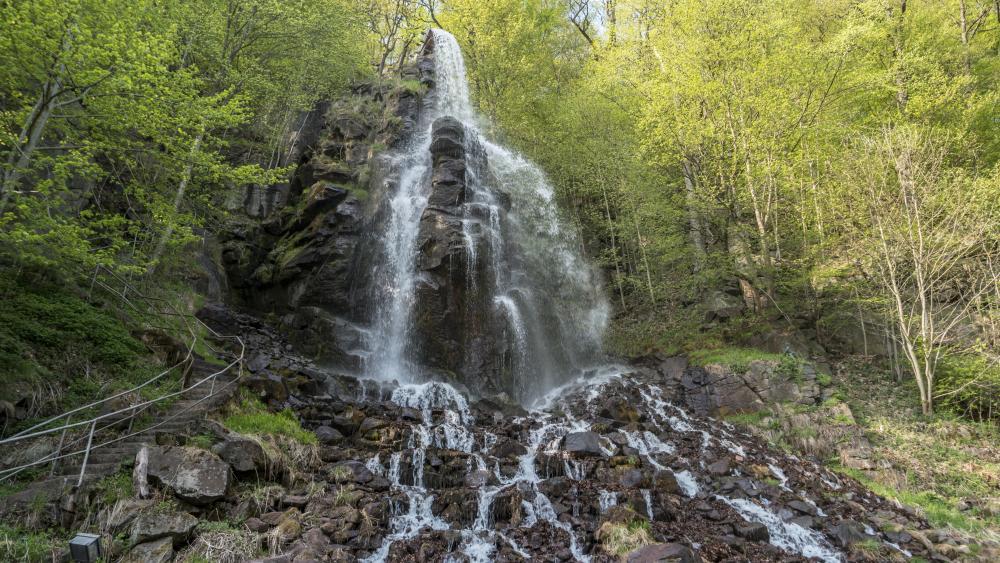 Trusetaler Waterfall wallpaper