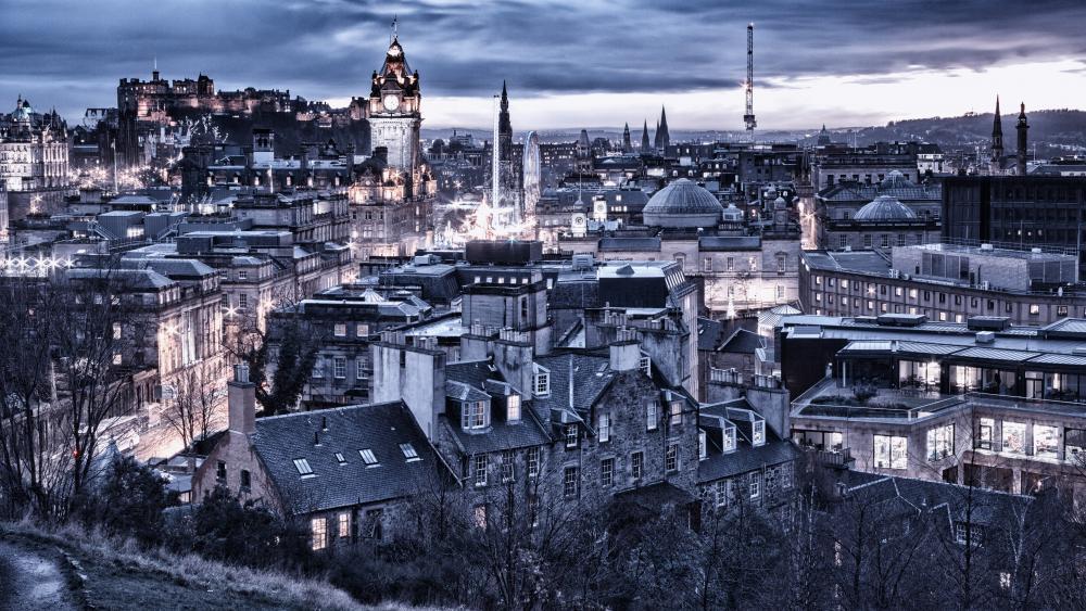 Edinburgh view from Dugald Stewart Monument wallpaper