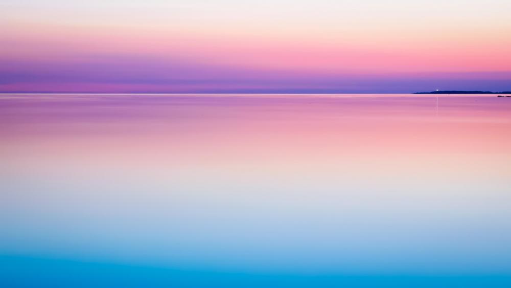 Pink horizon and sea wallpaper