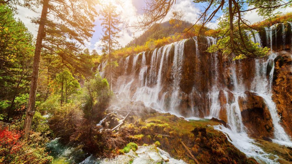 Pearl Shoal Waterfall (Jiuzhaigou Nature Reserve) wallpaper