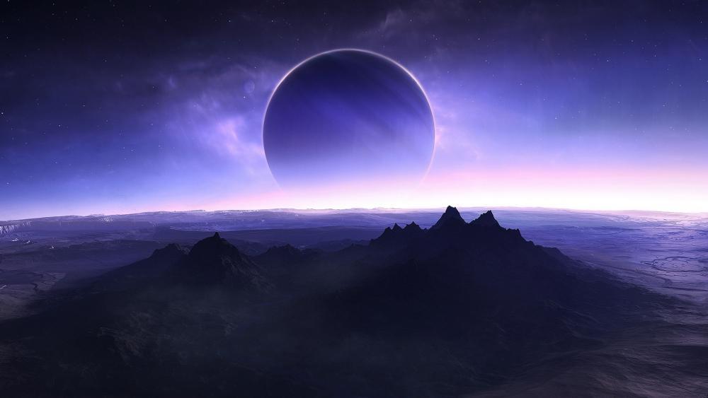 Solar eclipse fantasy art wallpaper