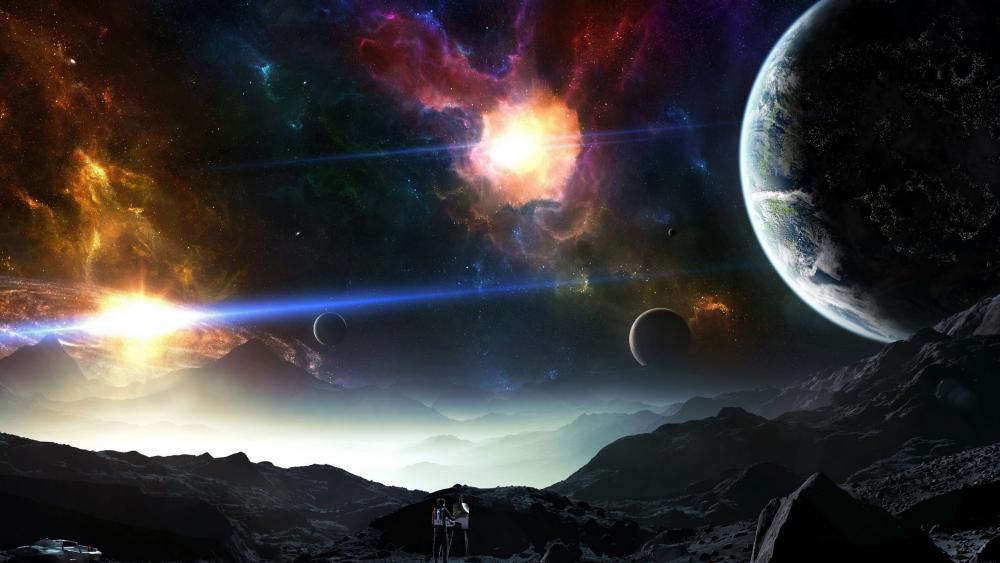 Living in an alien planet wallpaper