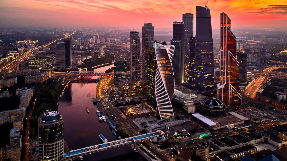 Moscow International Business Center Russia wallpaper