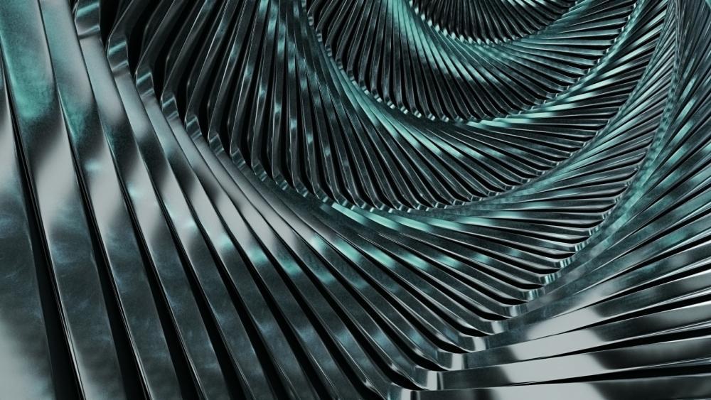 3D Silver spiral wallpaper