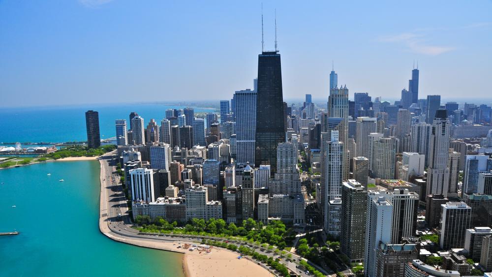 Chicago and Lake Michigan wallpaper