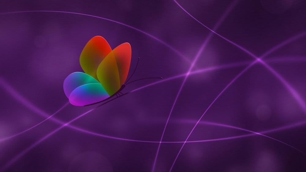 Rainbow Butterfly  - Digital art wallpaper