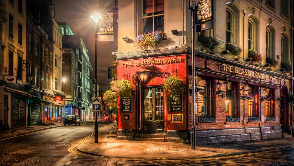 The Glassblower pub in London wallpaper