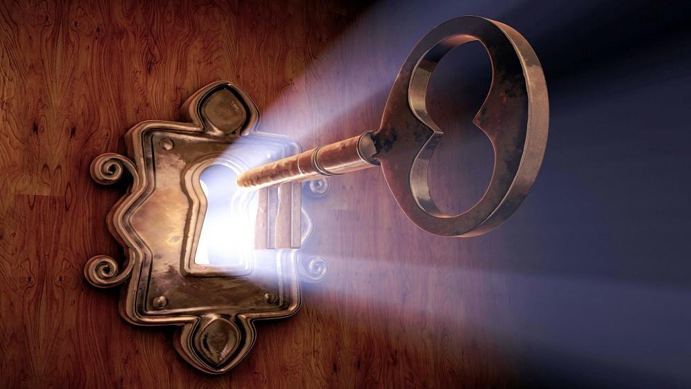 Key in the lock wallpaper