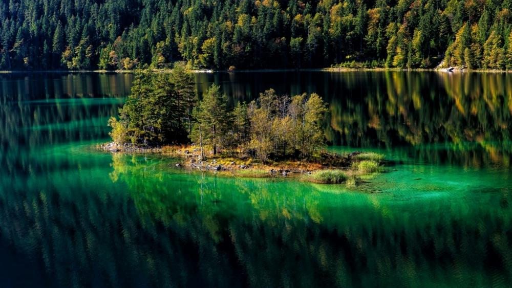Eibsee (Bavaria, Germany) wallpaper